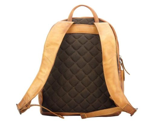 tan backpack in vintage retro leather jasmin free worldwide delivery sale woman