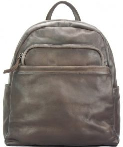 buy Backpack in genuine retro vintage calfskin Bruno Colour Dark Brown man