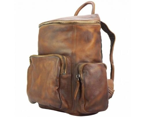 brown backpack Irma free worldwide delivery man