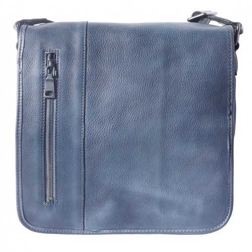 buy italian Messenger bag in retro vintage genuine leather Ilario Colour dark blue for men