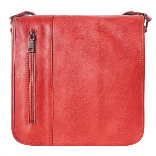 buy italian Messenger bag in retro vintage genuine leather Ilario Colour light red for man