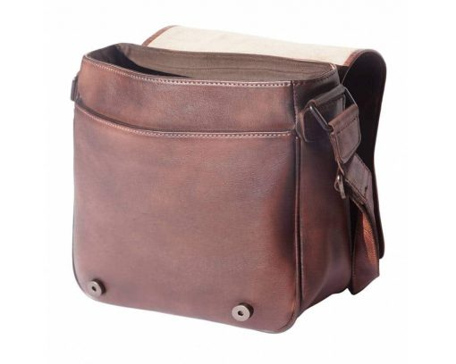 dark brown bag in vintage leather Georgiana woman