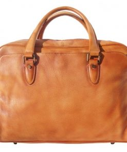 buy Unisex briefcase business bag in genuine retro vintage leather Oliviero Colour tan for man
