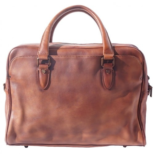 buy Unisex briefcase business bag in genuine retro vintage leather Oliviero Colour brown for woman