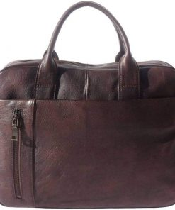 dark brown business bag unisex