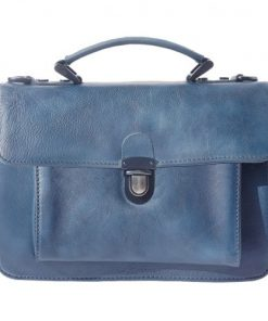 buy italian Mini genuine retro vintage leather briefcase business bag Odessa Colour dark blue for women
