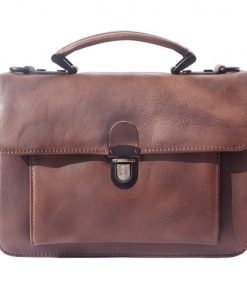 buy italian Mini genuine retro vintage leather briefcase business bag Odessa Colour brown for women