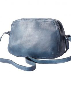 buy italian Cross body bag Laura in genuine retro vintage calf leather Colour dark blue for women