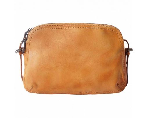 tan small bag in genuine leather Eugenia woman
