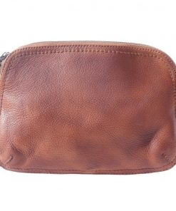 buy italian Cross body bag Wally in vintage calf genuine leather Colour brown for women