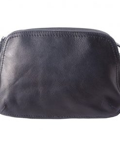 buy italian Cross body bag Wally in vintage calf genuine leather Colour black for woman