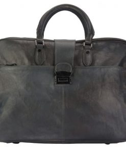 dark grey briefcase in vintage genuine leather Cristiano man