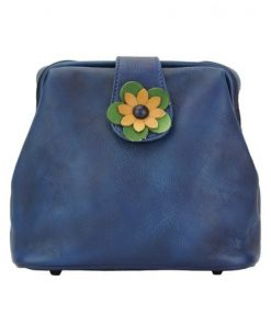 buy italian Cross body bag with flower Wanda Colour dark blue for woman