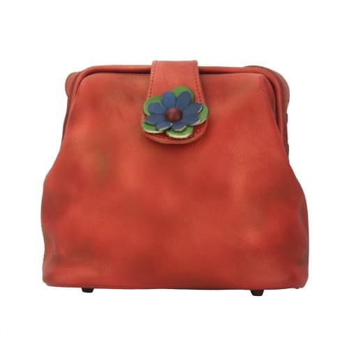 buy italian Cross body bag with flower Wanda Colour light red for women