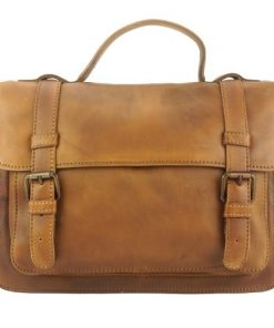 tan one handle bag of genuine vintage leather Milton man