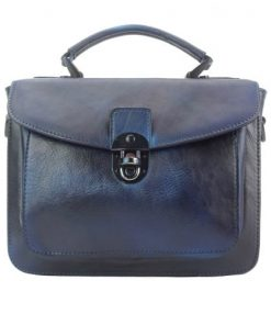 dark blue handbag in vintage retro genuine leather nathaniel women