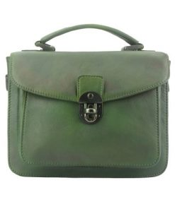 dark green handbag in vintage retro genuine leather nathaniel women
