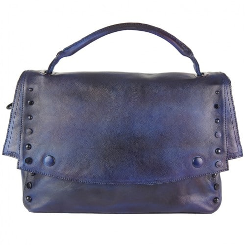 dark blue color messenger Alipia with rivets for women