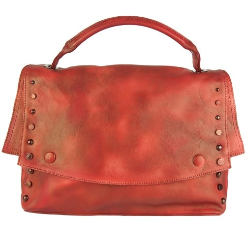 red color messenger Alipia with rivets for women