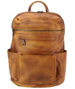 tan backpack in vintage calfskin Salvatore womans