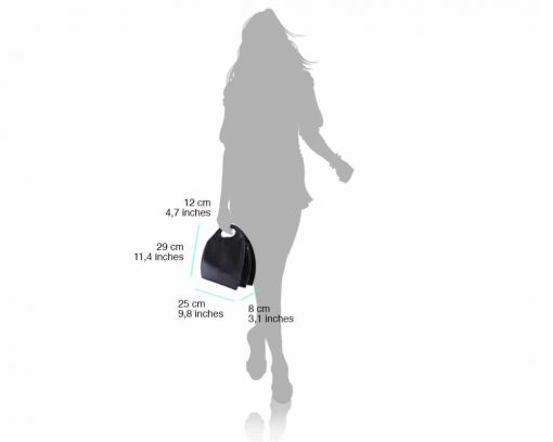 black bag in genuine leather Carina for women