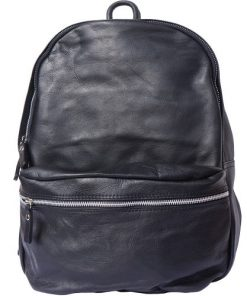 Unisex backpack of genuine leather Sergio Colour black for men