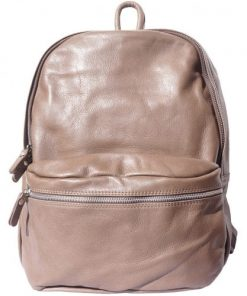 Unisex backpack of genuine leather Sergio Colour light taupe for men