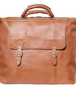 Unisex travel bag in hard cow genuine leather Eugenio Colour Brown for men
