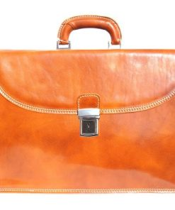 Genuine leather briefcase business bag Ottaviano Colour tan for men