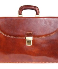 Genuine leather briefcase business bag Ottaviano Colour brown for men