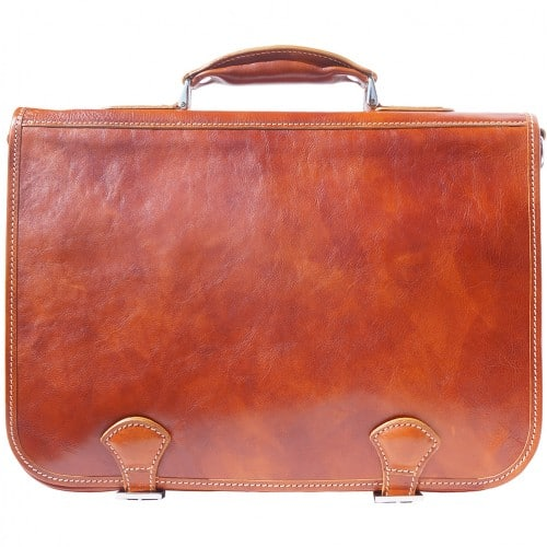 Genuine leather briefcase business bag Ottone Colour tan for men