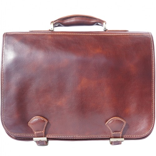 Genuine leather briefcase business bag Ottone Colour brown for men
