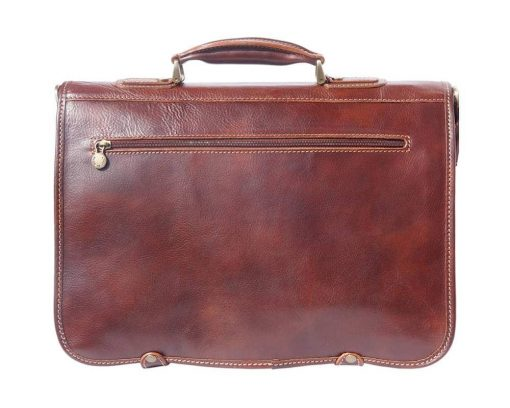 buy brown briefcase in real leather Ursula italian