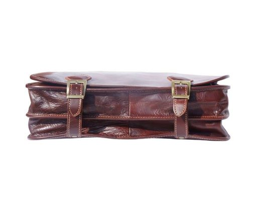 buy brown briefcase in genuine leather Ursula from italy