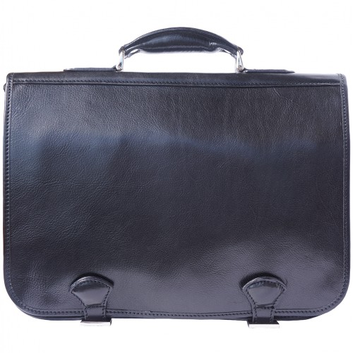 Genuine leather briefcase business bag Ottone Colour black for women