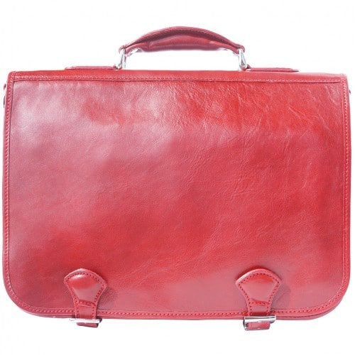 Genuine leather briefcase business bag Ottone Colour light red for women