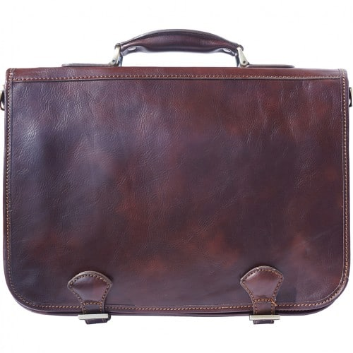 Genuine leather briefcase business bag Ottone Colour Dark Brown for men