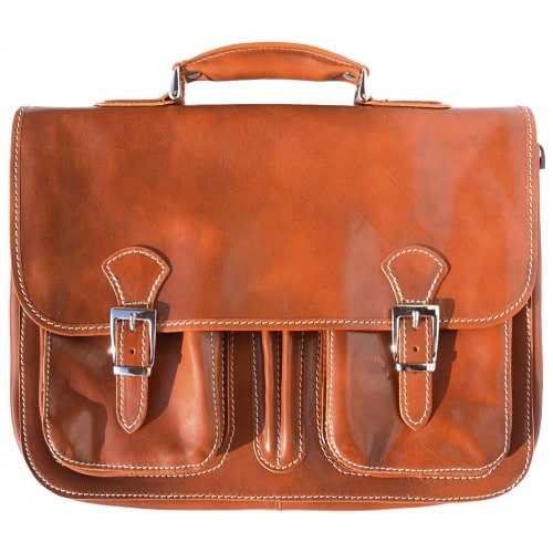 genuine Leather briefcase Paolo Colour tan for men
