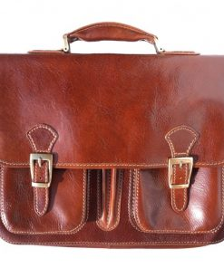 genuine Leather briefcase Paolo Colour brown for men