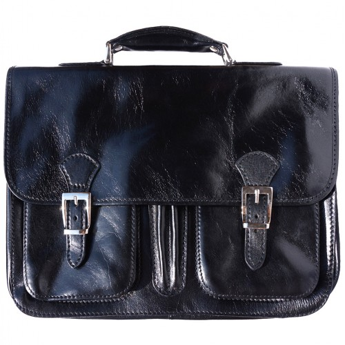 genuine Leather briefcase Paolo Colour Black for men