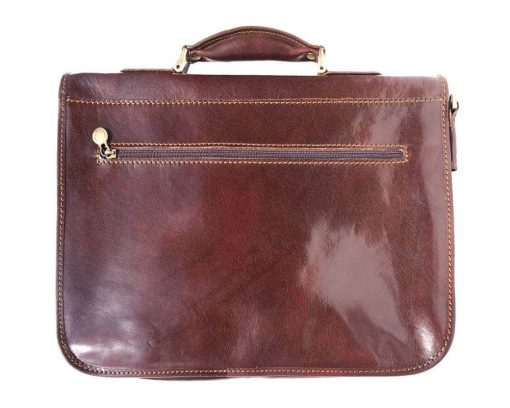 dark brown bag for documents in genuine leather Tara unisex
