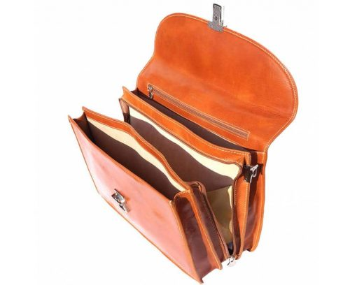 tan bag new model in real leather Maalot unisex
