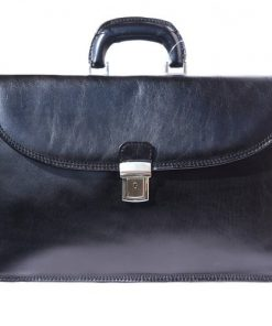 Genuine leather briefcase business bag Osvaldo Colour Black for men