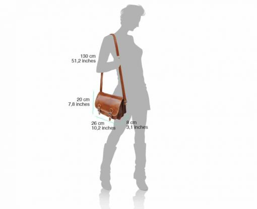tan briefcase in real leather Costel for women