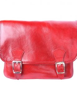 Mini messenger Italo in genuine leather Colour Light red for women