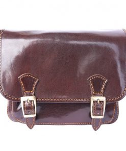 Mini messenger Italo Colour brown for women