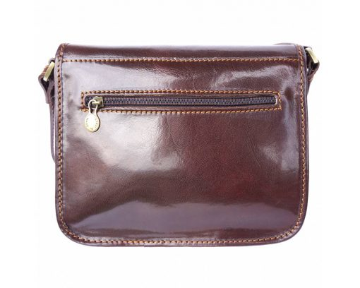 brown briefcase in natural leather Costel man