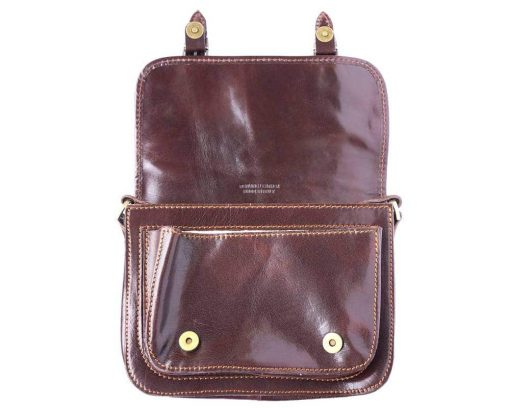 brown briefcase in genuine leather Costel for women
