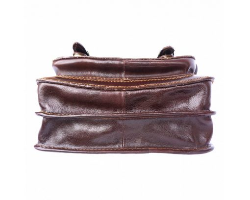 brown briefcase in leather Costel man