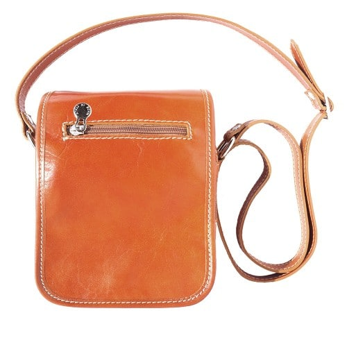Shoulder bag in genuine leather with long strap Ivano Colour tan for women